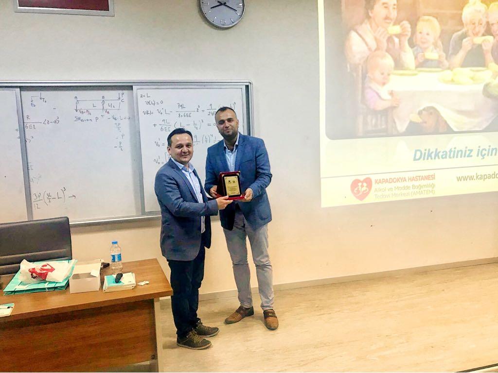 Dr. Öğr. Üyesi İbrahim Karakaya Bağımlılık Eğitimine eğitici olarak katılmıştır.