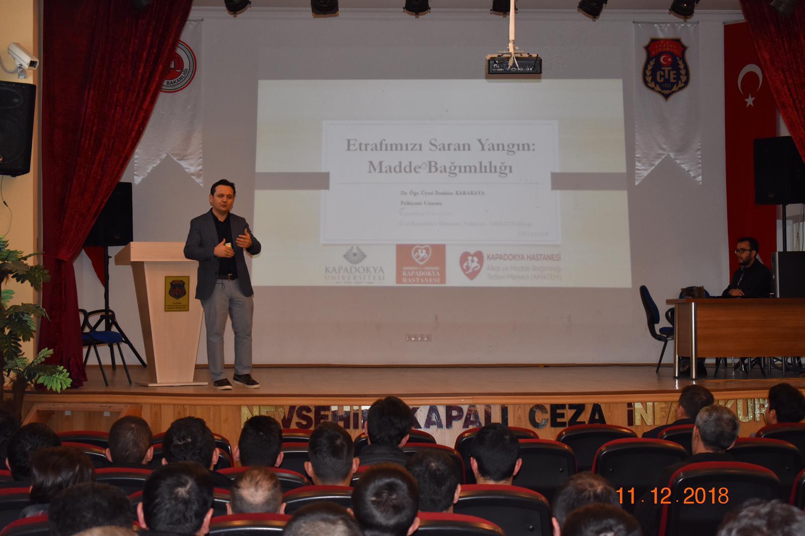 Nevşehir E Tipi Kapalı Ceza İnfaz Kurumu'nda Bağımlılıkla İlgili Seminer